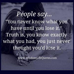 People say